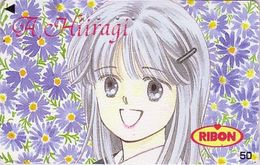Télécarte Japon / 110-011 - MANGA - RIBON - By AOI HIIRAGI - ANIME Japan Phonecard - BD COMICS TK - 9047 - Comics