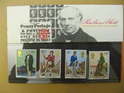 G.B. PRESENTATION LUXE P/ 100° ANNIV. DE LA MORT DE SIR ROWLAND HILL 4 Timbres N° 909 A 912 YT - Presentation Packs