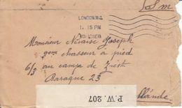 LETTRE POUR LE CAMP DE ZIESK EN HOLLANDE - CENSUREE - CACHET DE LONDRES - V/IMAGE - 1916 - Covers & Documents