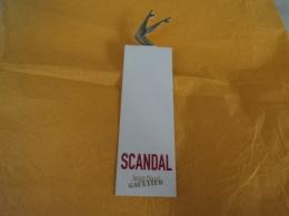 """GAULTIER """" SCANDAL"""" CARTE  LIRE ET VOIR!! - Cartes Parfumées"""