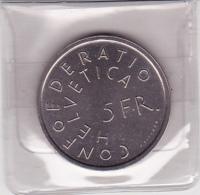 5.- Commémoratif  1975 : Heredio Nostro Futurum - Monnaie Ayant Cours Actuellement - Suisse