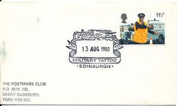 Great Britain Cover With Special Postmark MILITARY TATTOO Edinburgh 13-8-1980 - 1952-.... (Elizabeth II)