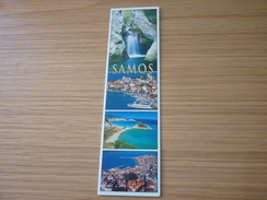 Greece Samos Island Bookmark/Marque-page (waterfall Ship Boat) - Marque-Pages
