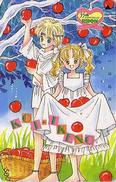Télécarte Japon / 110-82231 - MANGA - RIBON / Série 35th - By KOI IKENO -Pomme Cueillette - ANIME Japan Phonecard - 9051 - Film
