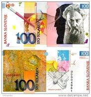 SLOVENIA 100 Tolarjev 1992  P 14 UNC Crisp New - Slovénie
