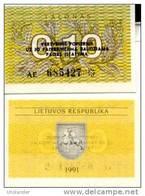 LITHUANIA  0,10 Talonas P 29 B 1991 UNC - Lituanie