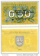 LITHUANIA  0,50 Talonas P 31 B 1991 UNC - Lituanie
