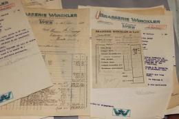 Lot De Documents De La Brasserie Winckler De Lyon 1931-35 - Documents Historiques