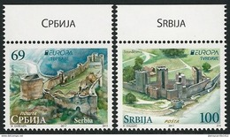 """SERBIA/ SRBIJA/ SERBIEN -EUROPA-CEPT 2017-""""CASTILLOS - CASTLES - SCHLÖSSER""""- SERIE De 2 V. - 2017"""