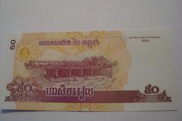 BILLET CAMBODGE 50 RIELS 2002 - Cambodia