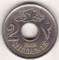 Egypte. 2 Millièmes AH 1335 – 1916 H. Sultan Hussein Kamil .KM# 314 - Egypte