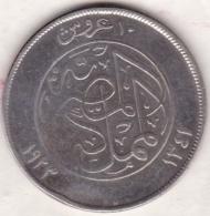 Egypte. 10 Piastres AH 1341 – 1923 H . Roi Fuad I. Argent .KM# 337 - Egypte