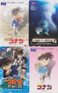 LOT De 4 Cartes Japon - MANGA - DETECTIVE CONAN * ONE PUNCH * - ANIME Cinema Movie Japan Tosho Cards - 9057 - BD