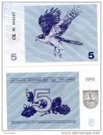 LITHUANIA  5 Talonu 1991 P 34 B UNC - Lituanie