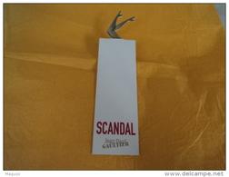 """GAULTIER """" SCANDAL"""" CARTE  LIRE ET VOIR!! - Miniatures Modernes (à Partir De 1961)"""