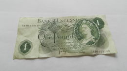 Billet One Pound  Numéros X83h103149 - Gran Bretagna