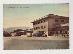 SULMONA - STAZIONE FERROVIARIA - CARTOLINA NON VIAGGIATA - ITALY POSTCARD - Stazioni Senza Treni