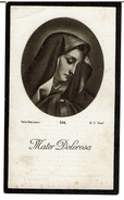 Bid Voor De Ziel - Emma TREELS (G. Préau) - Oudenaarde 1860 / Leupegem 1933 - 2 Scans - Andachtsbilder