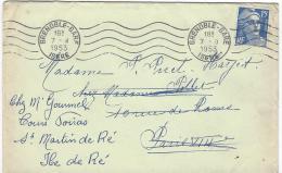 Marianne De Gandon N° 886 Flamme A Barres D'annulation Grenoble Gare  Plus Tampon Paris 118 R D'Amsterdam 8 - France