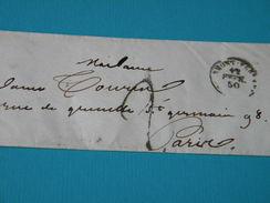 ENVELOPPE De CLERMONT-FERRAND ( 12 FEVRIER 1850 ) à PARIS ( 13 FEVRIER 1850 ). - Postmark Collection (Covers)