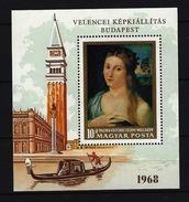 UNGARN - Block Nr. 64 A - Bildnis Eines Mädchens; Von Palma Il Vecchio Postfrisch - Hojas Bloque