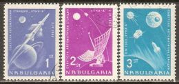 Bulgaria 1963 Mi# 1388-1390 Used - Russia's Rocket To The Moon / Space - Europe