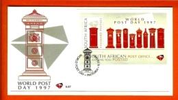 RSA, 1997, Mint F.D.C., MI 6-67, Block 65, World Postal Day - Zuid-Afrika (1961-...)