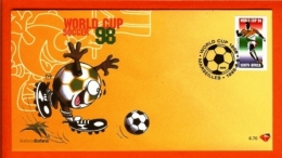 RSA, 1998, Mint F.D.C., MI 6-76,   Football France - Brieven En Documenten