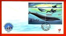 RSA, 1998, Mint F.D.C., MI 6-89,  Block Whales WWF - South Africa (1961-...)