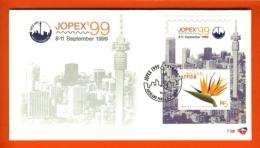 RSA, 1999, Mint F.D.C., MI 7-08, Block Jopex 99 - Zuid-Afrika (1961-...)