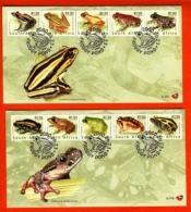 RSA, 2000, Mint F.D.C., MI 6-117+6-118,  Frogs - South Africa (1961-...)