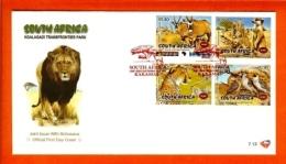 RSA, 2001, Mint F.D.C., MI 7-13,  Kgalagadi Park - Zuid-Afrika (1961-...)