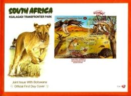 RSA, 2001, Mint F.D.C., MI 7-14,  Block 84, Kgalagadi Park - Zuid-Afrika (1961-...)