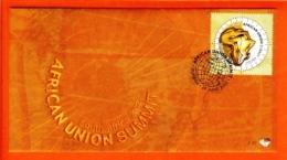 RSA, 2002, Mint F.D.C., MI 7-42, African Union Summit - South Africa (1961-...)