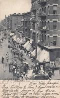 New York City, Hester Street Scene Lower Manhattan, Message In French Sent To France, C1900s Vintage Postcard - Manhattan