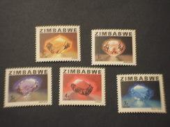 ZIMBABWE - 1980 PIETRE 5 VALORI - NUOVO(++) - Zimbabwe (1980-...)