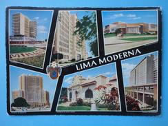 Lima - Perù - America - Vedutine Affrancatura Meccanica Rossa - Perù