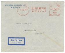 Suède // 1945 //  Lettre  Pour La Suisse - Suède