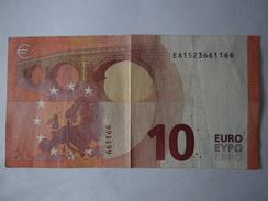"""Seltenheit: Sammlernote, 10er Schein Mit Toller Serienendnummer """"...661166"""", - EURO"""