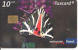 -CARTE-PUCE-SUISSE-10CHF-02/2007- PAPILLON-FALENA TBE - Vlinders