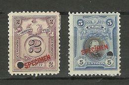 PERU SPECIMEN 2 Stamps * - Peru