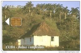 141 TARJETA DE CUBA DE UN BOHIO CAMPESINO - Cuba