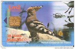 Nº219  TARJETA DE MALTA  DE UNA ABUBILLA (BIRD-PAJARO) PUZZLE - Malta