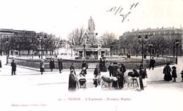 #& Nimes - L'Esplanade  - Fontaine Pradier - Nîmes