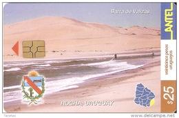 Nº 266 TARJETA DE URUGUAY DE BARRA DE VALIZAS EN ROCHA - Uruguay