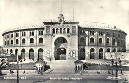 1956 , BARCELONA - PLAZA DE TOROS , TARJETA POSTAL CIRCULADA - Corridas