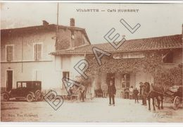 Villette (01) - Café Humbert (Photographie D'une Carte Postale) - Reproductions