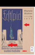 (art2445) - 1937 Nazi Karte Berlin Festspiel Ungel. - Allemagne