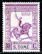 !■■■■■ds■■ St.Thomas 1938 AF#303** Empire Short Inscription 30 Cent (x11613) - St. Thomas & Prince