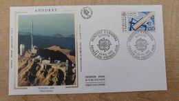 FDC 1er Jour - Andorre - Espace - Satellite - Télécommunications - Europa 1991 - Europe